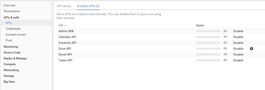 Google Console API