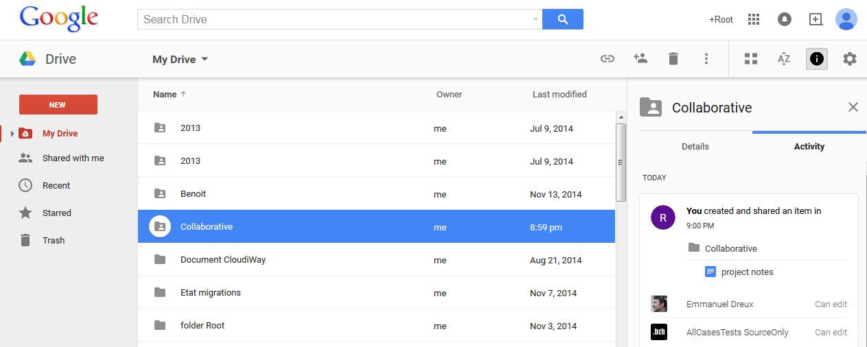 Google Drive Content