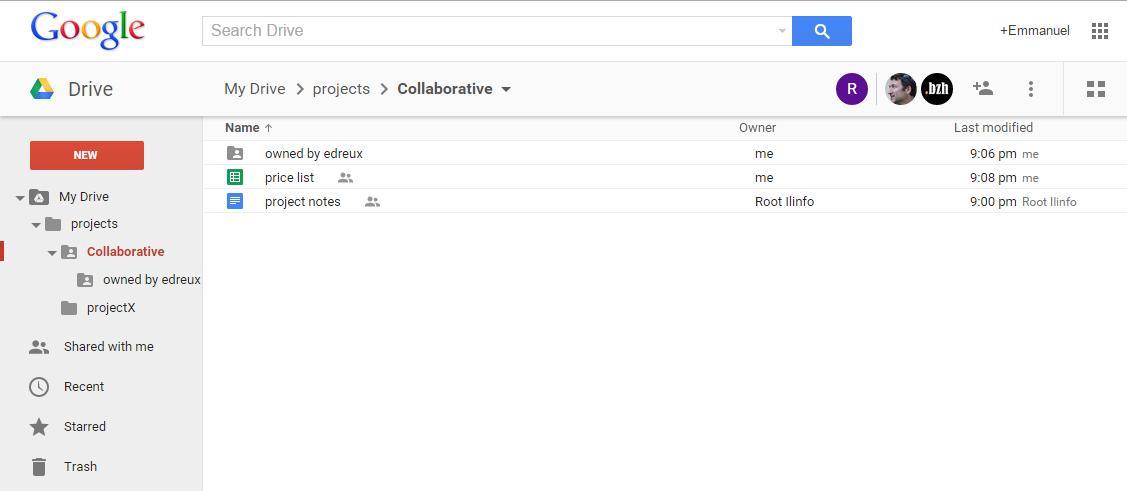 Google Drive Folder Tree