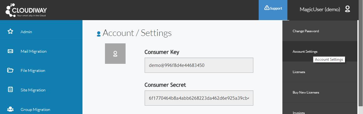 Consumer Key / ConsumerSecret