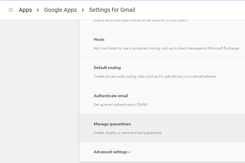 Gmail Advanced Settings