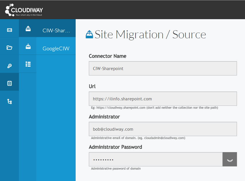 Sharepoint migration menu