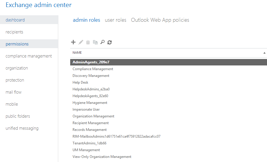Office 365 role management