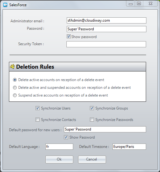 Salesforce provisioning connector