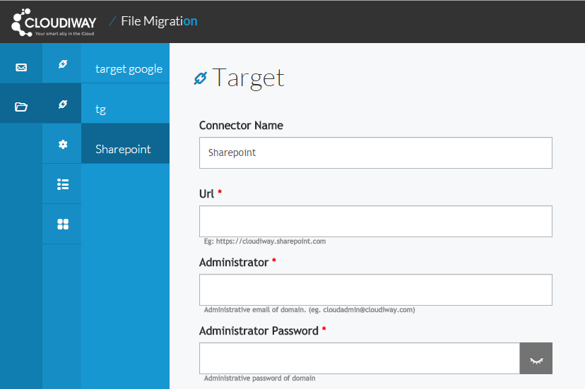 Sharepoint migration connector