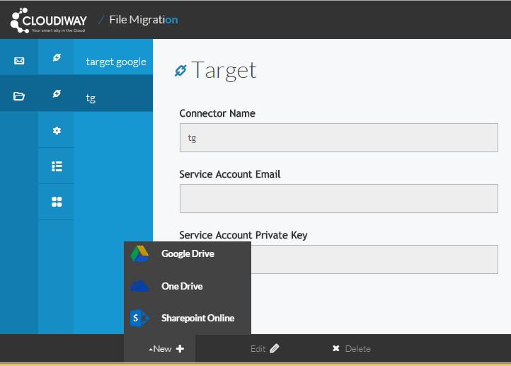 Target OneDrive connector