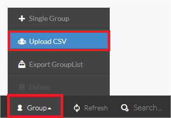 Download and Upload groups mapping table