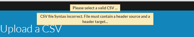 Invalid csv for mail routing