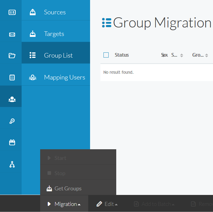 Get Groups option during groups migration