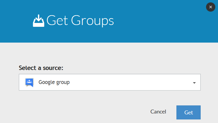 Get Groups task during Google Groups migration to Office 365 groups
