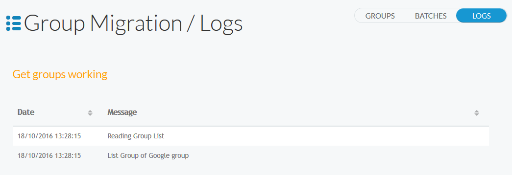 Google Groups Get Groups Working