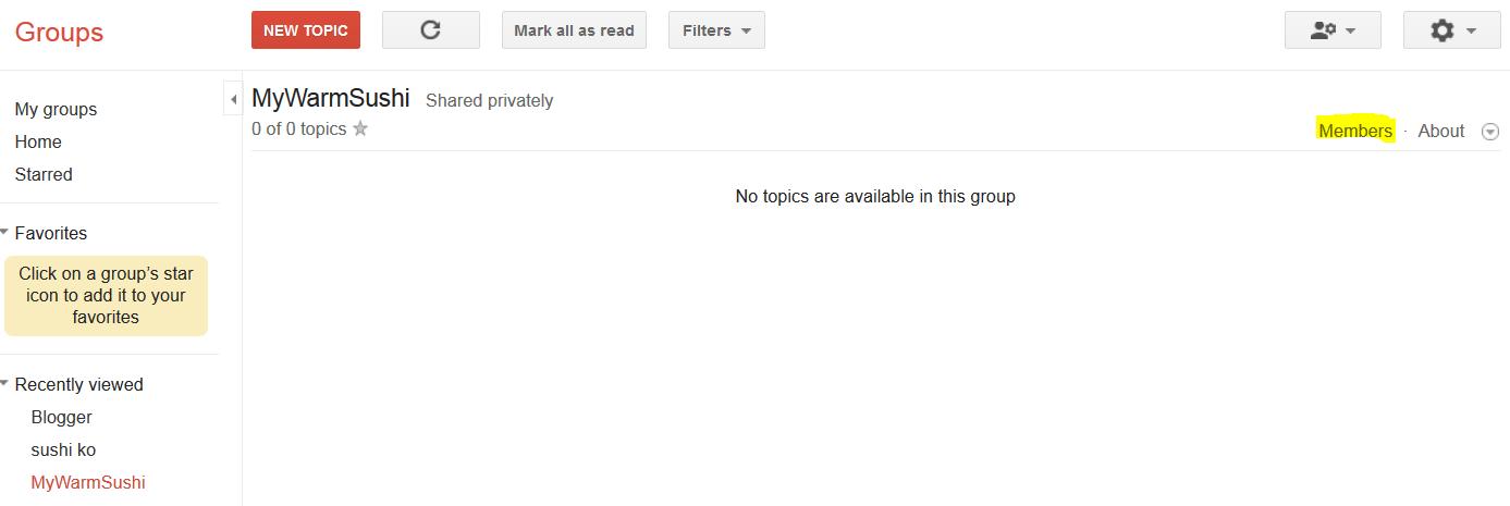 Google Groups Members