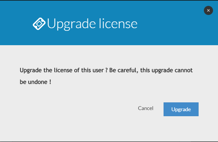 Validate Upgrade license