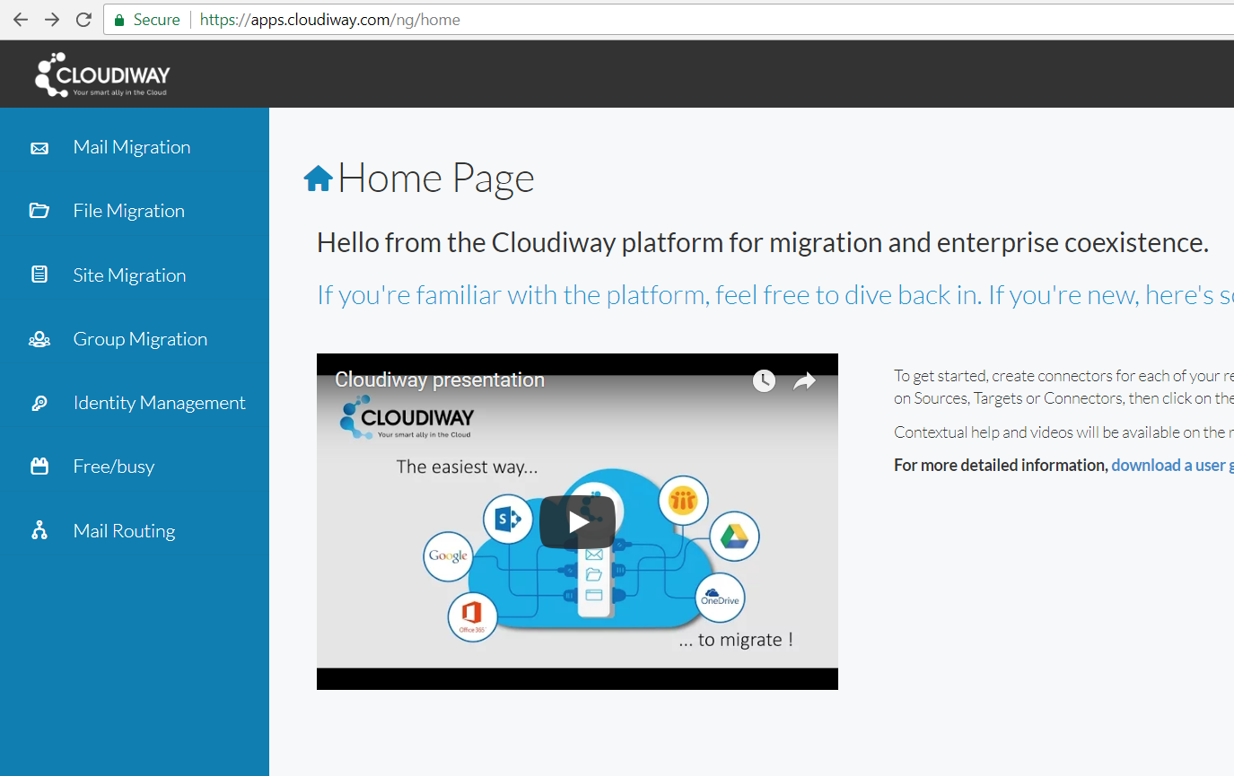 Cloudiway Sharepoint site migration