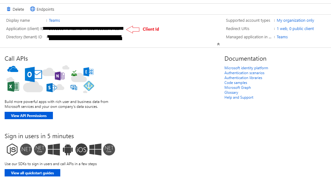 Azure Apps registration  How to generate Client Id and Client Secret