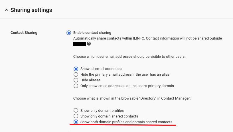 Can't find any GAL synchronized contact in G Suite - kb